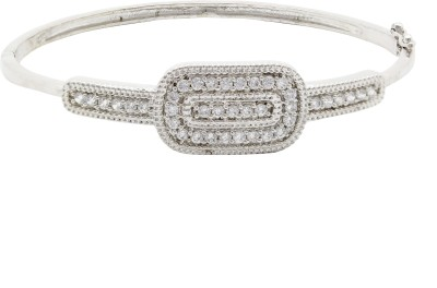 Ishaani Brass Cubic Zirconia 18K White Gold Bracelet
