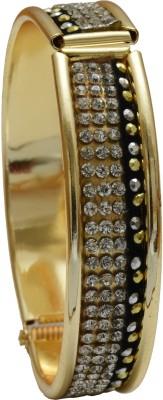 Hightrendz Alloy Zircon Yellow Gold Bracelet