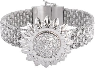 PERFECTION Metal Cubic Zirconia Sterling Silver Bracelet