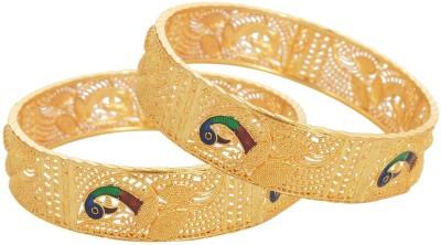 Johri Bazar Alloy Yellow Gold Bangle Set