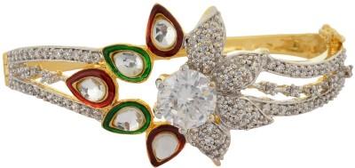 Waama Jewels Bronze Cubic Zirconia Yellow Gold Bracelet