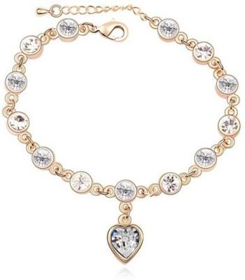 Amour Alloy Crystal Yellow Gold Bracelet at flipkart