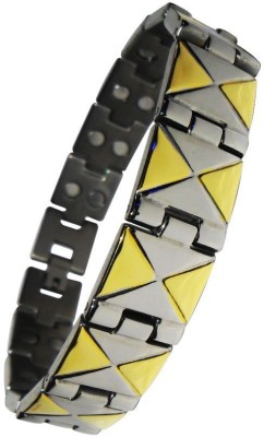 Magnaz Metal Yellow Gold, Silver Bracelet