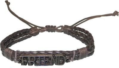 Pearls India Leather, Cotton Dori, Metal Bracelet