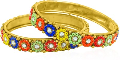 BoBell Alloy Beads Yellow Gold Bangle Set