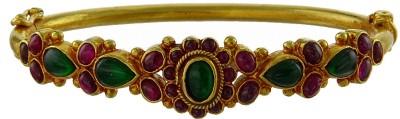 Kushals Fashion Jewellery Silver Spinel Yellow Gold Kada