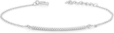 Peora Sterling Silver Rhodium Bracelet