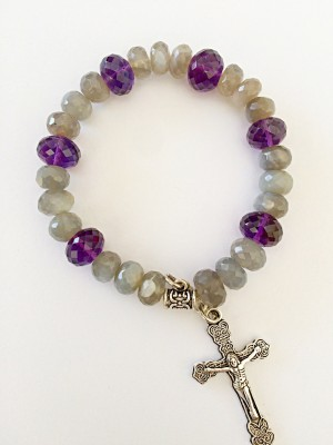DG Stone Amethyst Charm Bracelet