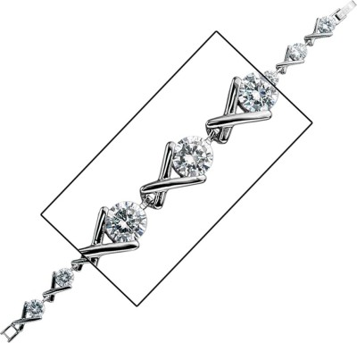 Inox Jewelry Stainless Steel Cubic Zirconia Tennis Bracelet