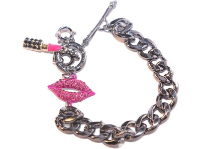 Big Pout Alloy Charm Bracelet