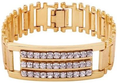 Rich Club Yellow Gold Diamond Rhodium Bracelet