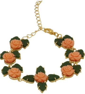 Nisa Pearls Alloy Jade Bracelet