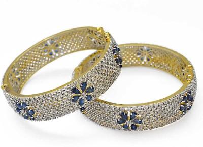 Jewelfin Alloy Rhodium Bracelet Set