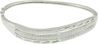 The Art Jewellery Brass Cubic Zirconia Rhodium Bracelet