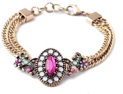 KooKoo Fashion Alloy Crystal Copper Charm Bracelet