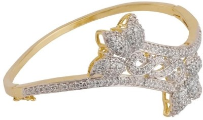 Siyora Brass Cubic Zirconia Yellow Gold, Rhodium Bracelet