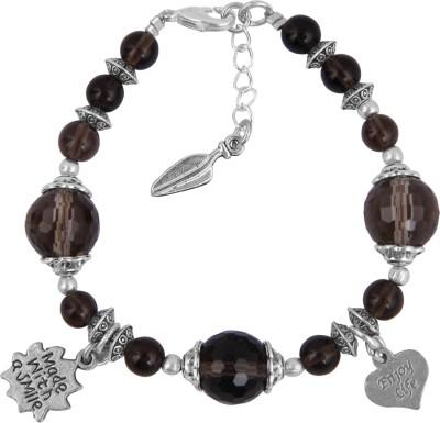 Pearlz Ocean Alloy Quartz Charm Bracelet