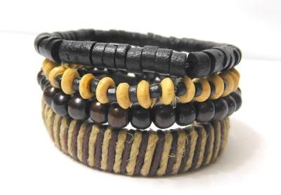 Eleganci Wood, Cotton Dori Charm Bracelet