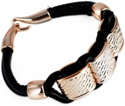 Jewel Touch Alloy, Leather Bracelet