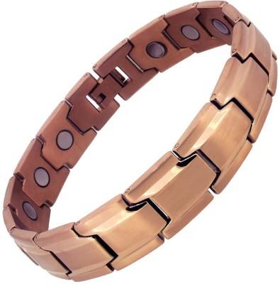 Aarogyam Energy Jewellery Stainless Steel Rose Gold Bracelet