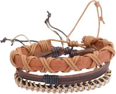 Foppish Mart Leather Beads Bracelet Set