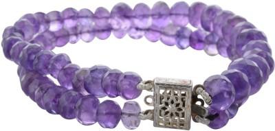Pearl Paradise Alloy Amethyst Rhodium Bracelet