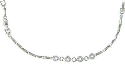 Kushals Fashion Jewellery Silver, Alloy Ruby Rhodium Bracelet