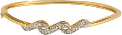 Affinity Silver, Alloy Cubic Zirconia Yellow Gold Bracelet