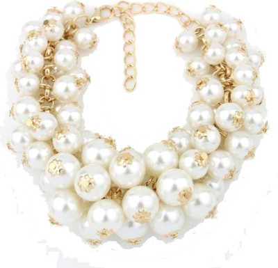 Amour Alloy Pearl Yellow Gold Bracelet