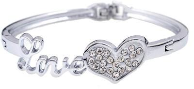 Amour Alloy Crystal Silver Bracelet
