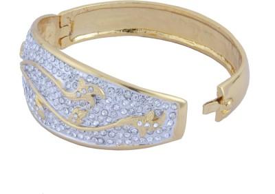 Trisha Alloy Cubic Zirconia 24K Yellow Gold Bracelet