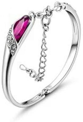 University Trendz Alloy Rhodium Charm Bracelet