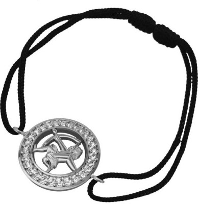 Jewelslane Silver, Fabric 14K Yellow Gold Bracelet