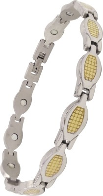 Magnaz Stainless Steel Yellow Gold Bracelet