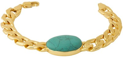 Voylla Stainless Steel Turquoise Rhodium Bracelet at flipkart