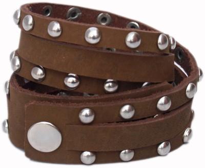 VR Designers Leather, Metal Bracelet
