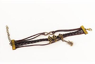 Jewel Touch Leather Tennis Bracelet