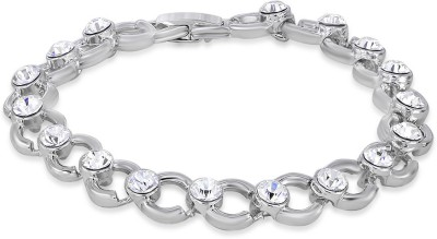 Mahi Alloy Zircon Rhodium Bracelet