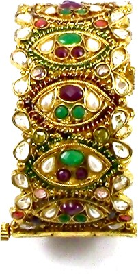 Pearl Paradise Copper Emerald Yellow Gold Bracelet