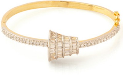 Affinity Alloy Cubic Zirconia Yellow Gold Bracelet