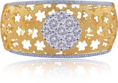American Diamond Copper, Brass Cubic Zirconia Yellow Gold, Rhodium Kada