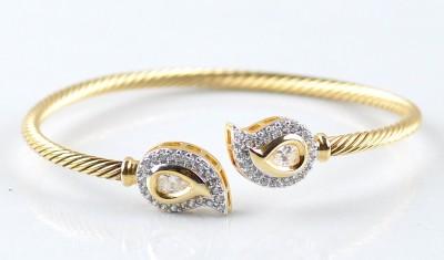 Fabulousfacets Alloy Rhodium Bracelet