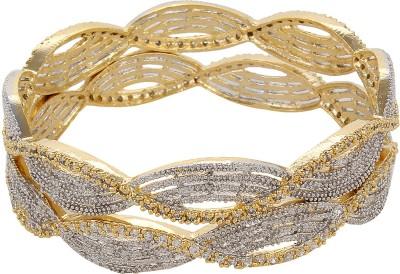 ABCD Brass Diamond Brass Bangle Set