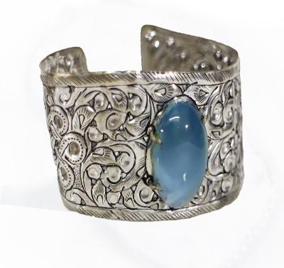 Cosmic 7 Jewellery Alloy Agate Rhodium Bangle