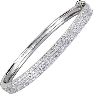 Pearl Paradise Silver Crystal Sterling Silver Bracelet