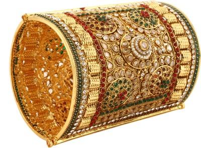 Dilan Jewels Alloy Zircon 18K Yellow Gold Cuff