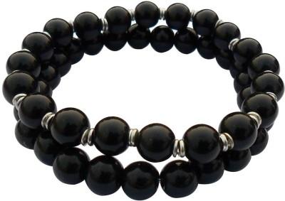 Beadworks Glass, Alloy Silver Bracelet Set