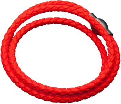 Inox Jewelry Leather Bracelet