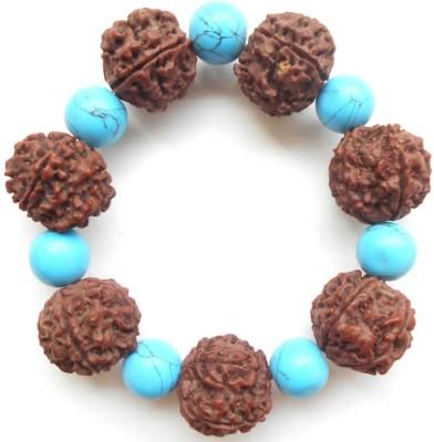 Herbal Jewellery Stone, Wood Turquoise Bracelet