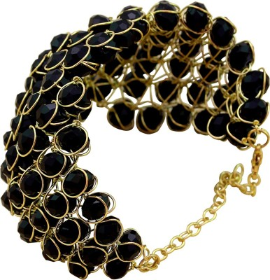 Memoir Brass Onyx Yellow Gold Bracelet